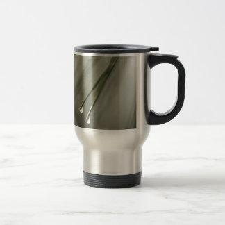 Pine Leaf Stainless Steel Travel Mug