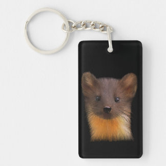 Pine Marten Rectangle Keychain