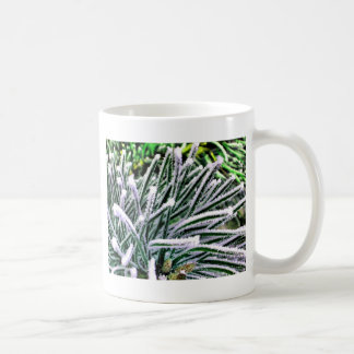 pine needles coffee mug