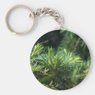 Pine needles design key chain