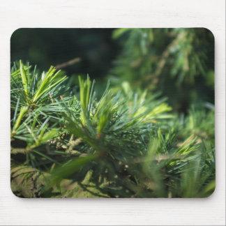 Pine needles design mouse pad