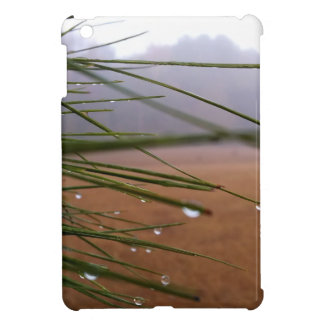 Pine needles with dewdrop tips iPad mini covers