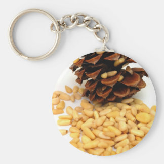 Pine Nuts Basic Round Button Key Ring
