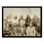 Pine Ridge Agency Indian Chiefs SD 1891 Poster