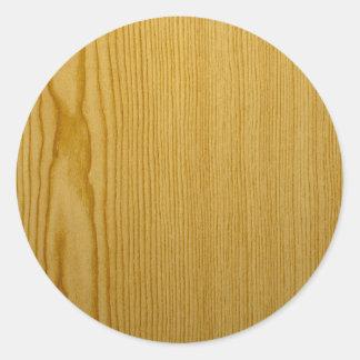 Pine Texture Classic Round Sticker