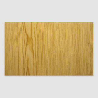 Pine Texture Rectangular Sticker