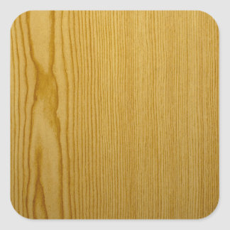 Pine Texture Square Sticker