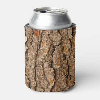 Pine Tree Bark Texture Can Cooler