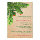 Pine Tree Branch - 3x5 Christmas Party Invitation