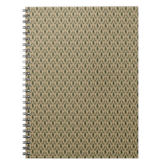 Pine Tree Damask Notepad Notebooks