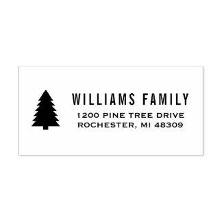 Pine Tree | Holiday Return Address Self-inking Stamp