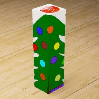 Pine Tree & Orange Ornament White Wine Box