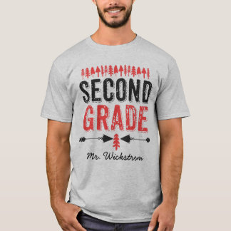 Pine Trees and Arrows Second Grade Teacher T-shirt