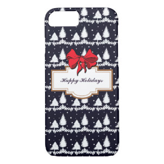 Pine Trees and Snow Happy Holidays iPhone 8/7 Case