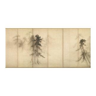 Pine Trees by Hasegawa Tohaku 16th Century Canvas Print