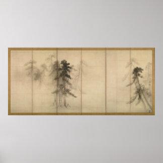 Pine Trees by Hasegawa Tohaku 16th Century Print