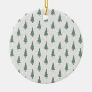 Pine trees in winter christmas ornament
