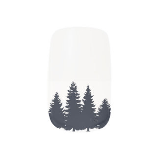 Pine Trees Nail Art