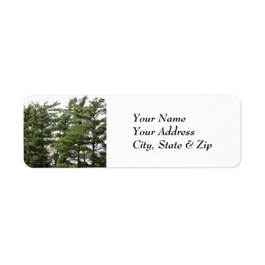 Pine Trees Return Address Label
