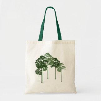 Pine Trees Silhouette Bag