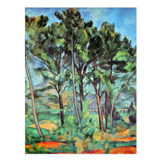 Pine with Viaduct by Paul Cezanne, Vintage Art Postcard