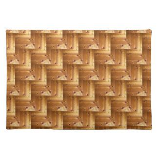 Pine Wood Herringbone Pattern Placemat