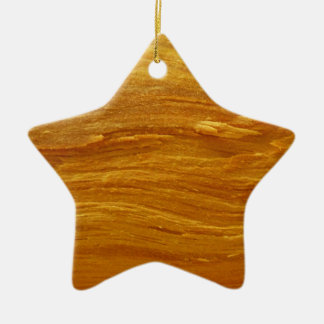 Pine Wood III Abstract Natural Tree Look Design Ceramic Star Decoration