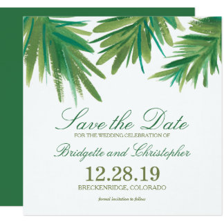 Pine Woods Watercolor | Save the Date 13 Cm X 13 Cm Square Invitation Card