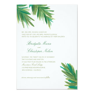 Pine Woods Watercolor | Wedding 13 Cm X 18 Cm Invitation Card