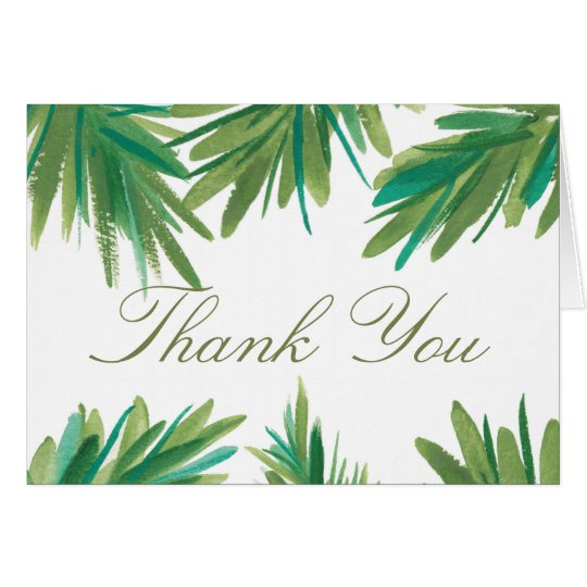 Pine Woods Watercolor | Wedding Thank You Card