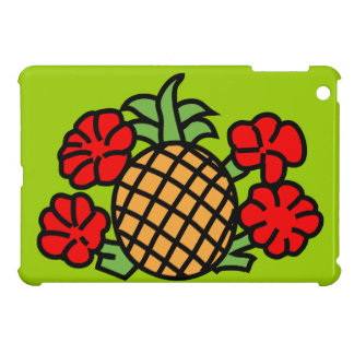 pineapple-303332 BRIGHT TROPICAL HIBISCUS HEALTHY Cover For The iPad Mini