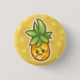 Pineapple:3 3 Cm Round Badge