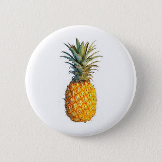 pineapple 6 cm round badge