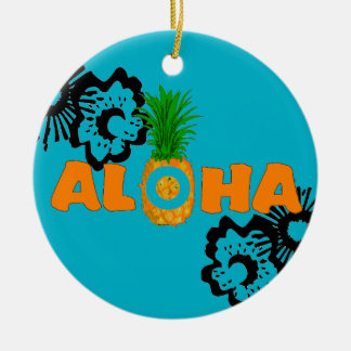 Pineapple Aloha - Beach Themed Christmas Ornaments