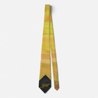 Pineapple and Black Monogram Tie