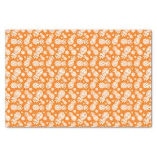 Pineapple and daisy orange white tissue paper
