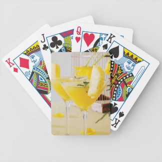Pineapple and ginger Fresca cocktail Bicycle Playing Cards