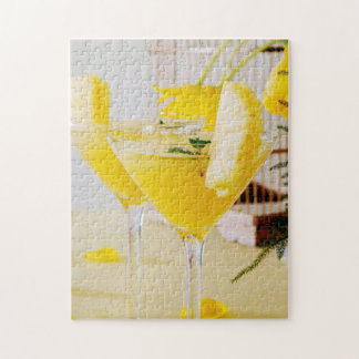 Pineapple and ginger Fresca cocktail Jigsaw Puzzle