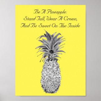 Pineapple Artwork Poster