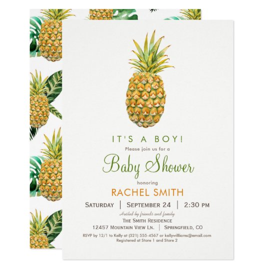 Pineapple Baby Shower Invitation
