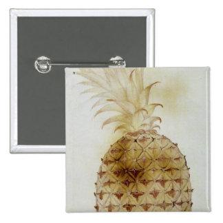 Pineapple 15 Cm Square Badge