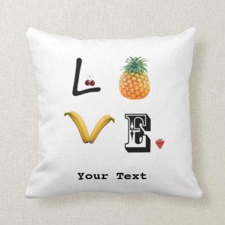 Pineapple, banana, love cushion