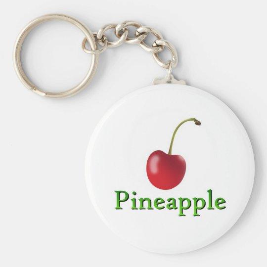 Pineapple Basic Round Button Key Ring