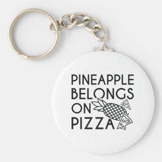 Pineapple Belongs On Pizza Key Ring