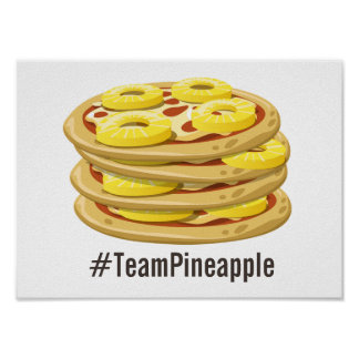 Pineapple belongs on Pizza Poster