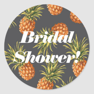 Pineapple Bridal Shower Labels