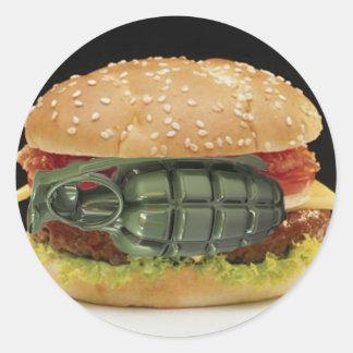 Pineapple Burger Classic Round Sticker