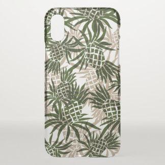 Pineapple Camo Hawaiian Tropical Khaki Olive Green iPhone X Case
