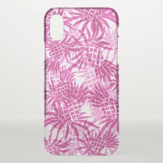 Pineapple Camo Hawaiian Tropical Pink iPhone X Case