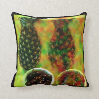Pineapple Cherry Graphic Pillow